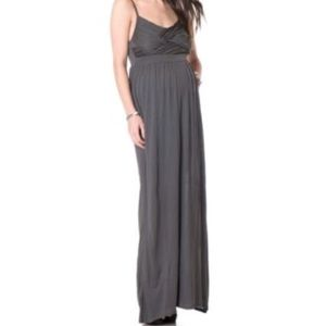 Thin Strap Gray Maternity Dress